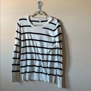 Merona striped sweater